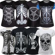 Summer woman t shirts 2015 Mexican skull print women tops & tees women's clothing skeleton tee shirt femme vistido SM6T013(China (Mainland))