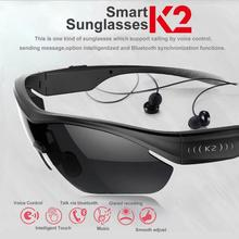 Smart Touch Polarized Sunglasses Bluetooth 4.0 Stereo Headphone Hot Voice Control W/Mic Sports  Eyewear Glasses For IOS Android