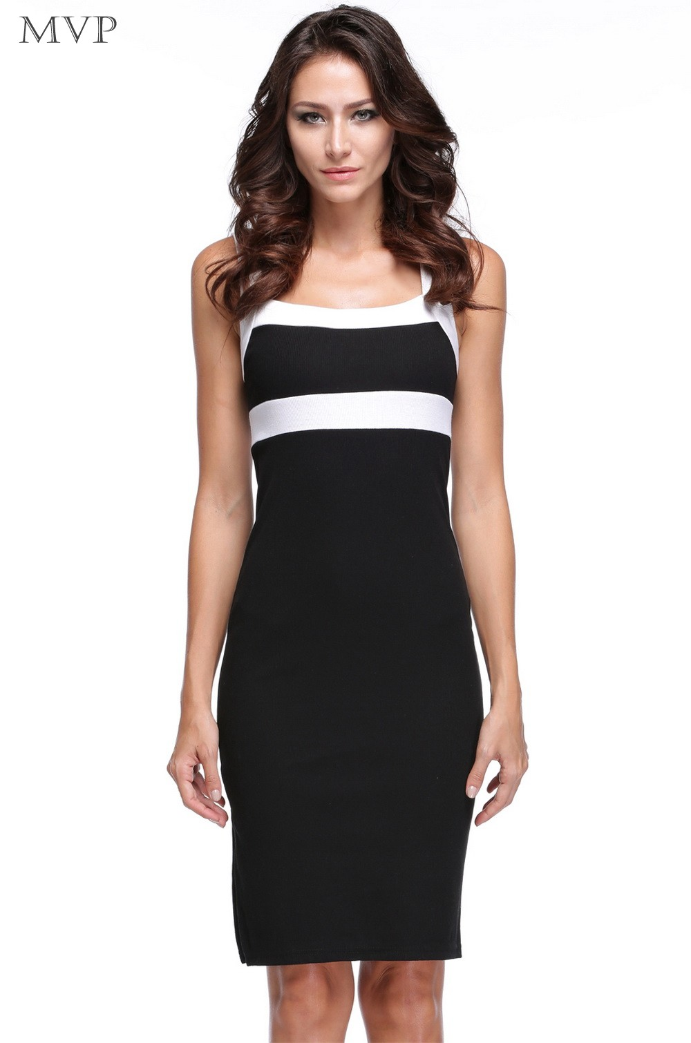 Promotion !Summer 2014 Women Sexy Dress Elegant Two Way to Wear Sleeveless Slim V-neck Pencil Dress to Party b7 SV008022(China (Mainland))