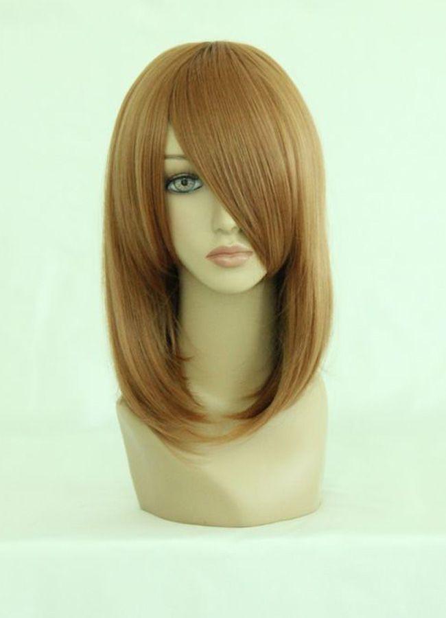 Гаджет  45cm Medium Umineko no Naku Koro ni-Ushiromiya Maria Light Brown Cosplay Costume Wig None Волосы и аксессуары