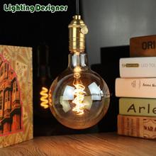 Buy G125 edison led bulb E27 110V 220V spiral light amber retro saving lamp vintage filament Edison lamp led light chandelier 220V4W for $13.59 in AliExpress store