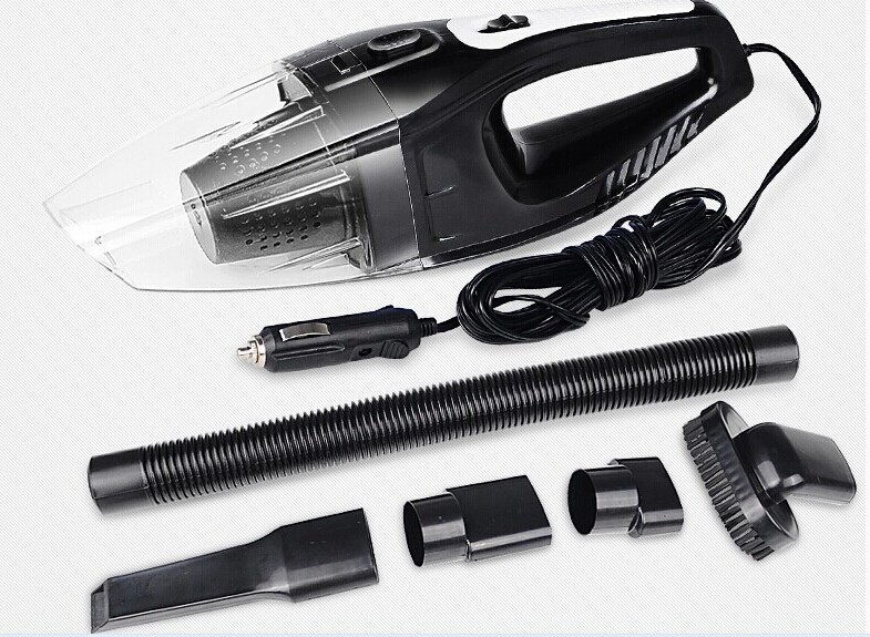 New arriving Car vacuum cleaner 5meters 120W lowest price super suction strong power wet -dry dual use free shipping(China (Mainland))