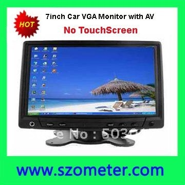 """Hot Sale 7"""" car PC monitor with VGA and AV input , NO TOUCHSCREEN"""
