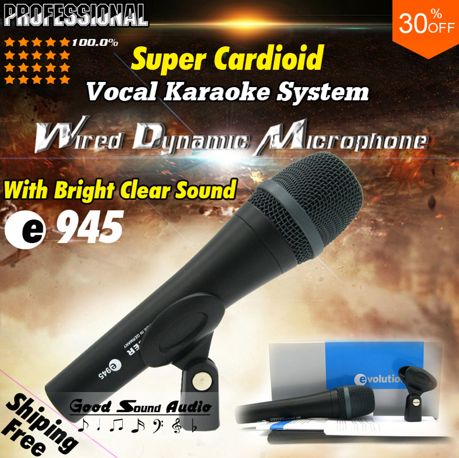 Free Shipping Top Quality e 945 Super Cardioid Vocal Dynamic Wired Microphone e945 Karaoke Mic Mike Microfone Com Fio Microfono<br><br>Aliexpress