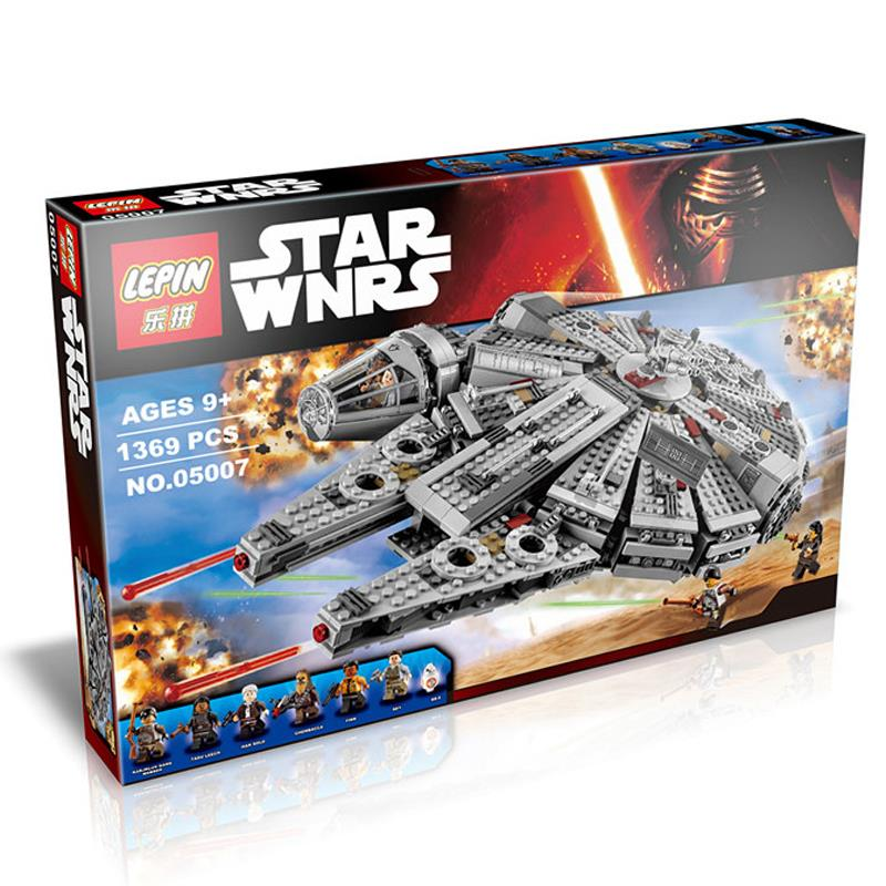 2016 New 1 set Building Blocks Star Wars The Force Awakens Millennium Falcon Model Kits Rey BB-8 MiniFigures with box LP05007<br><br>Aliexpress