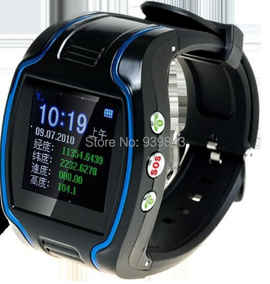 mini GPS Wrist Watch GPS101 for The elder/Children,dual way communciate Protect Property Safety SOS button for emergency help(China (Mainland))