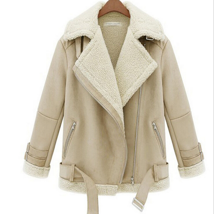 Images of Suede Shearling Coat - Reikian