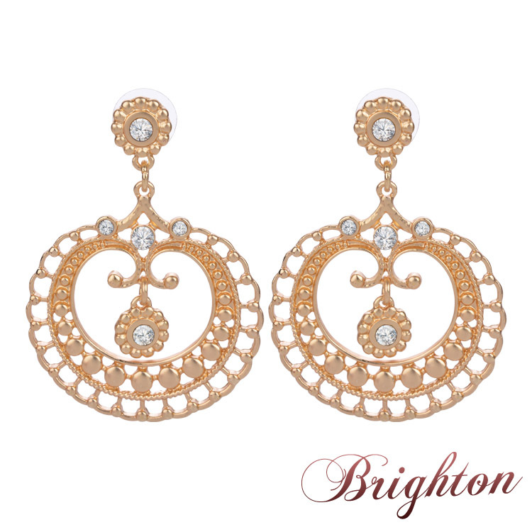 Unique Chic Stellux Drop Earrings 18K Gold Silver Plated Crystal Cubic Zircon Fashion Party/Wedding Jewelry Women - Sunflower World store