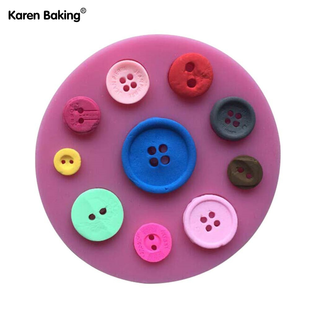 Beautiful Button Shape 3D Fondant Cake Lace Mold Tools For Cooking Chocolate Mould For The Kitchen Baking -C422(China (Mainland))