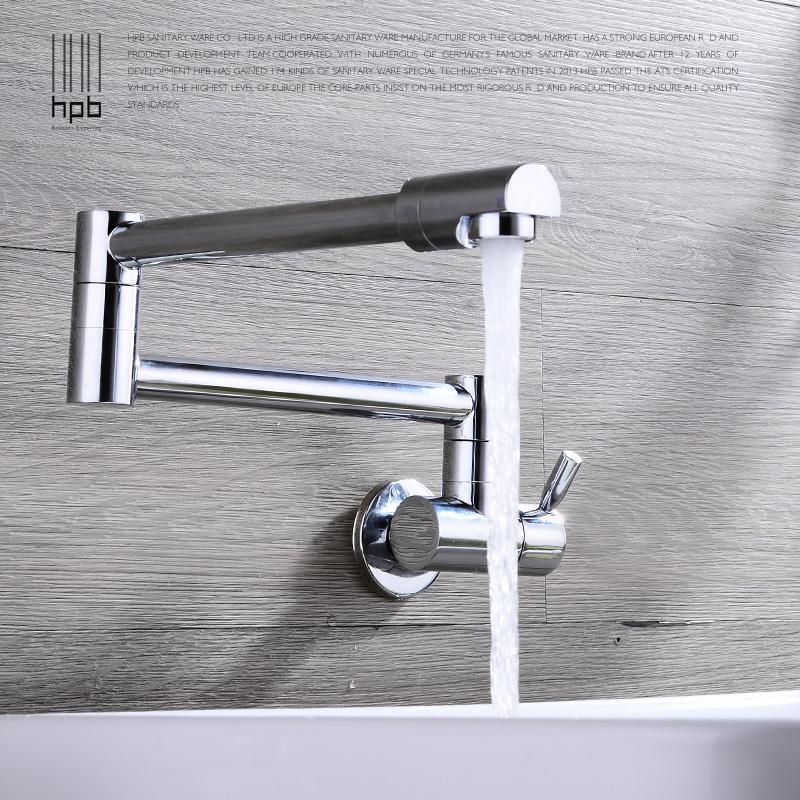 Hpb girevole beccuccio a parete montato rubinetto della - Rubinetto cucina pieghevole ...