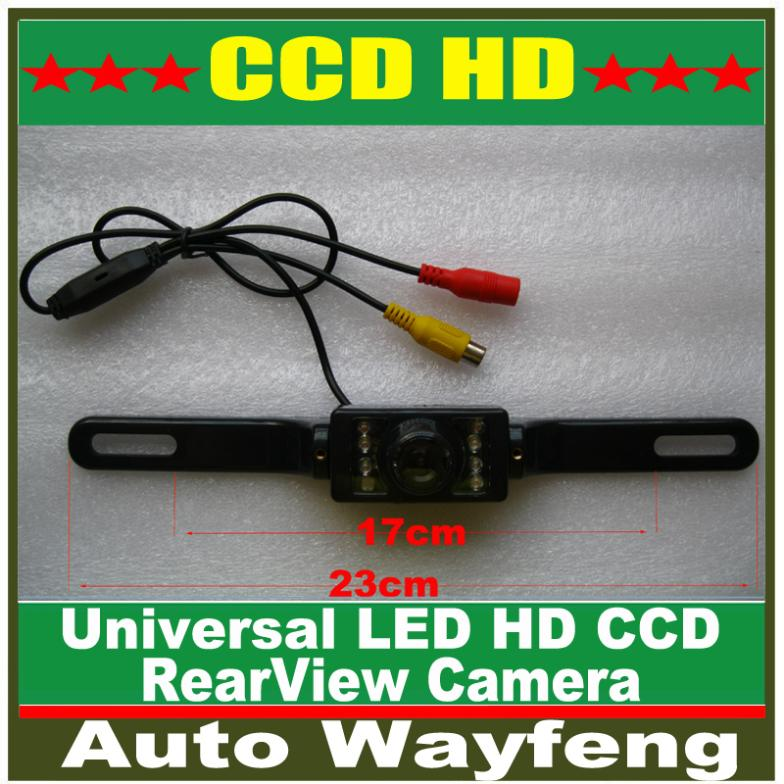Universal 8 LED Auto Parking HD CCD Car Rear View Camera Reverse backup Camera rearview parking Camera Free Shipping(China (Mainland))