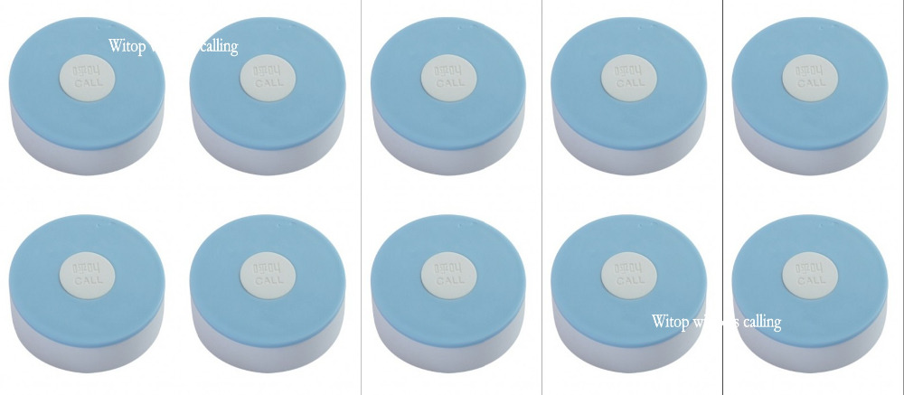 10pcs blue white fluorescent silica gel button,hospital/clinc/nursing home wireless calling system tranmitter nurse call bell