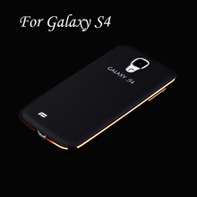 Top Touch Feel Metal Aluminum Case For Samsung Galaxy S4 I9500 PC Arc-Shaped Back Cover For Galaxy S4 Coque Funda Capinhas(China (Mainland))