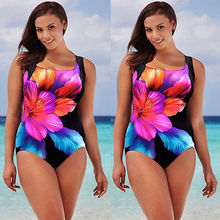2016 Plus Size Women Sexy Swimsuit Beachwear One Piece Push Up Padded Bikini Swimwear