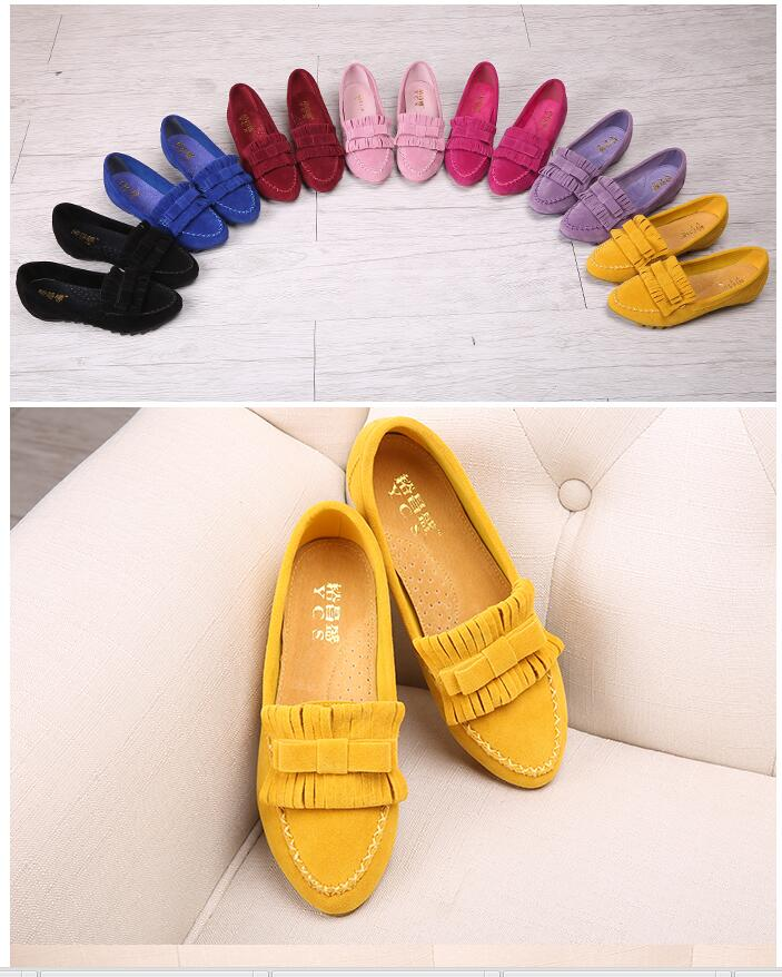 2016 Flats Shoes Tendon at the end Flat Large size Shoes Woman Moccasins Female Causal  Shoes For Women  Leisure  4-10 diamond<br><br>Aliexpress