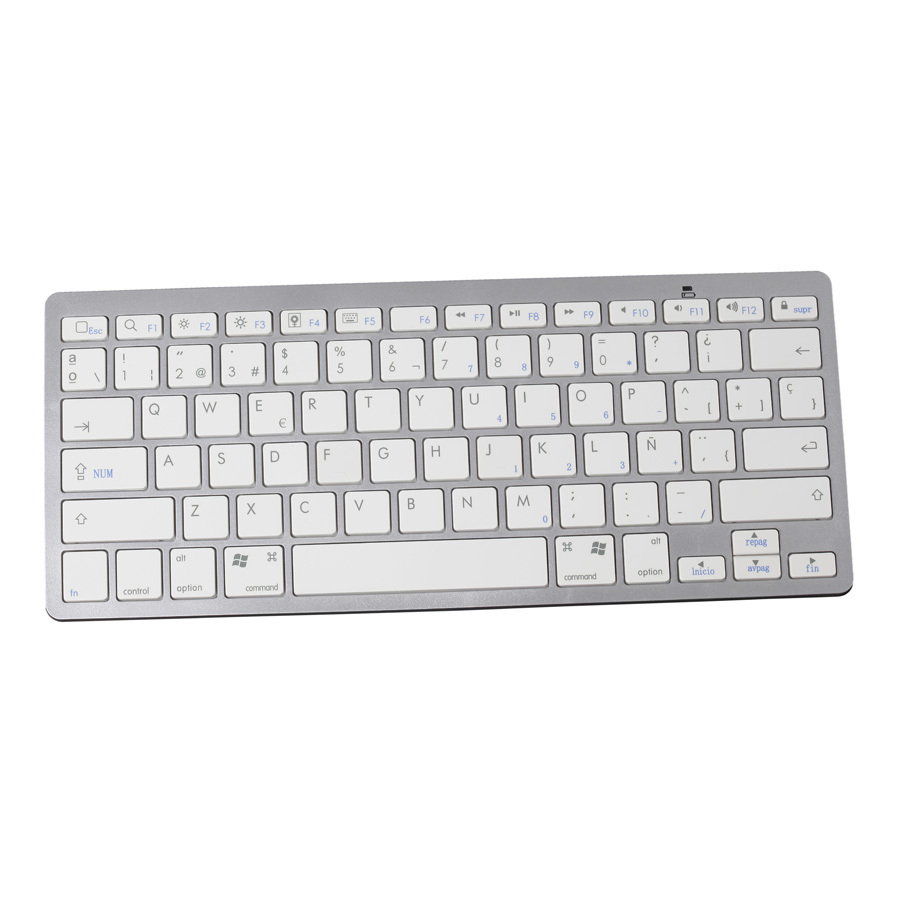 spanish bluetooth wireless white keyboard spanish letter gaming keyboard portable for apple mac. Black Bedroom Furniture Sets. Home Design Ideas
