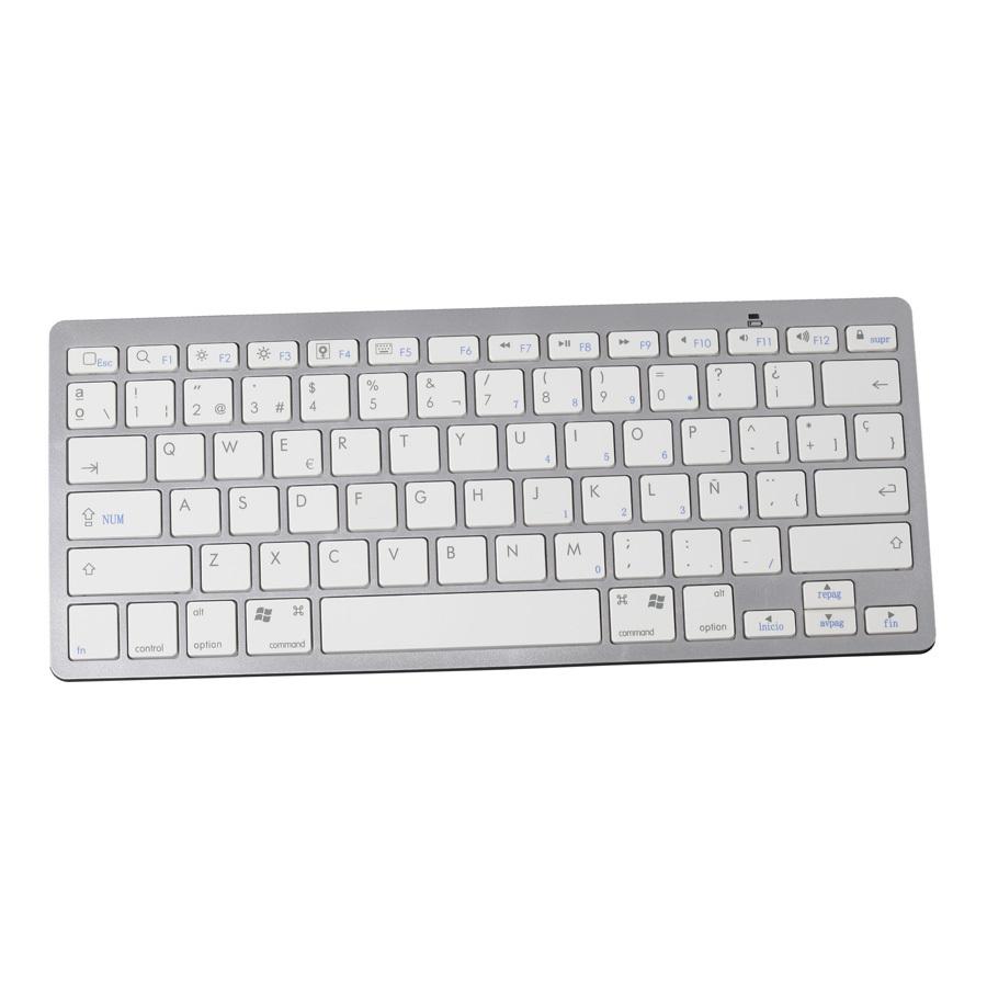 Spanish Bluetooth Wireless White Keyboard Spanish Letter Gaming Keyboard Portable for Apple Mac and Windows laptops & desktops(China (Mainland))