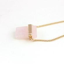 Artilady rose quartz pendant necklace vintage europe fine jewelry rose quartz for women jewelry pendnat necklace