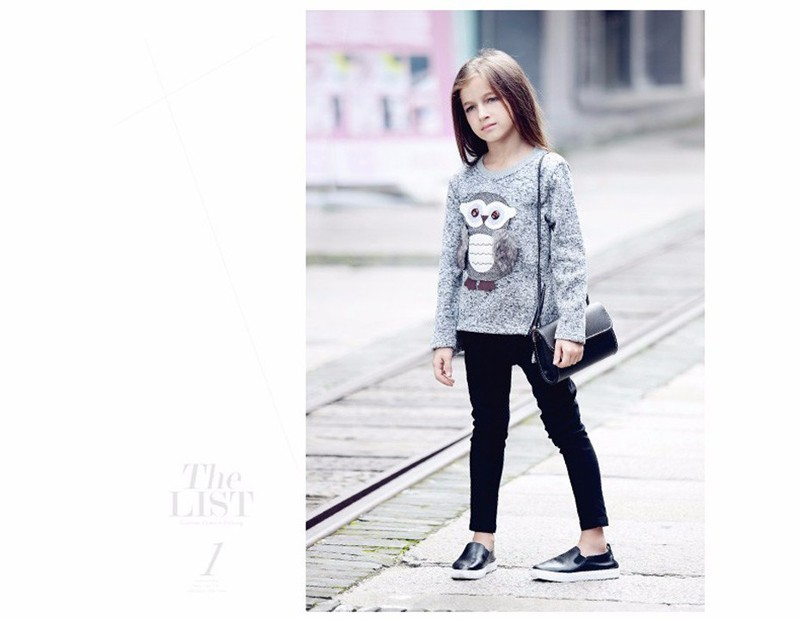 ac3d40227 6-16Y new fashion Kids Girls Fleece Lined Zipper Sweatshirt Cartoon ...