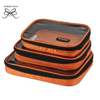 Travel kit multifunctional 3pcs /set storage bag  transparent wash bag combination set women travel bag men's travel bag