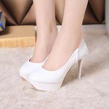 High heels bridal shoes women pumps