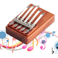 Sales Promotion 5 Keys Kalimba Mbira Likembe Sanza Finger Thumb Piano Rosewood Instrument wholesale