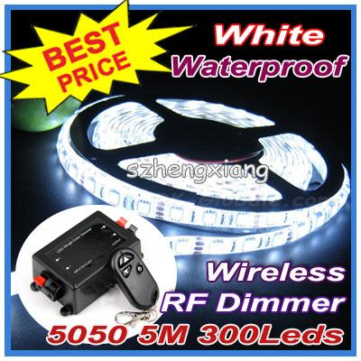 Wireless LED RF Dimmer !! Flexible White , Cool Warm Strip Light Lighting 5050 SMD 300Leds 5m Waterproof IP65 - Shenzhen Hengxiang Technology Co., Ltd store