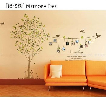 free shipping memory tree 3d wall stickerd diy home decoration photo tree wall pasters removable sticker