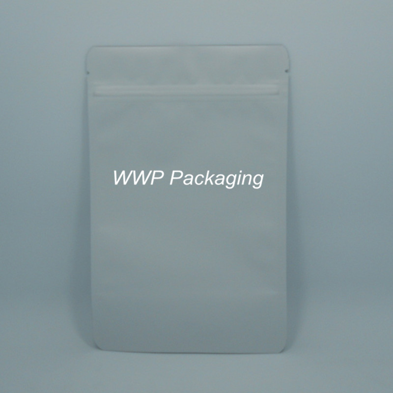 30Pcs/ Lot 13*21cm Matte White Doypack Pure Aluminum Foil Valve Pack Pouch Snack Storage Heat Seal Mylar Stand Up Zip Lock Bags(China (Mainland))