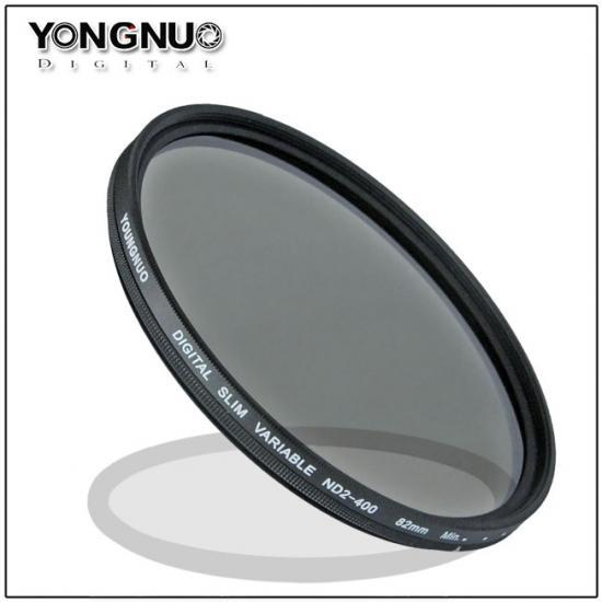 Yongnuo 55mm Slim ND Filter Neutral Density Variable ND2 ND4 ND8 to ND400 Camera Lens Filters 55mm(China (Mainland))