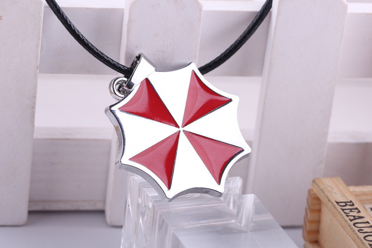 Movie Jewelry Resident Evil Statement Necklace Umbrella Corporation Stainless Steel Chain Pendant Necklace(China (Mainland))