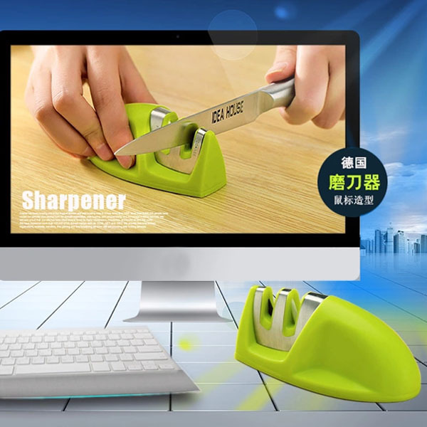 metal stainless steel+ABS housing knife sharpener anti-skid pocket knife sharpener portable grinder(China (Mainland))