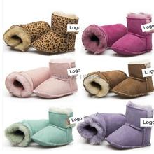 Botas de invierno recién nacido Brand New moda de arranque beibei nieve muchacho de la muchacha de piel caliente zapatos de la felpa para 0-24 mes 12 CM 13 CM 14 CM(China (Mainland))