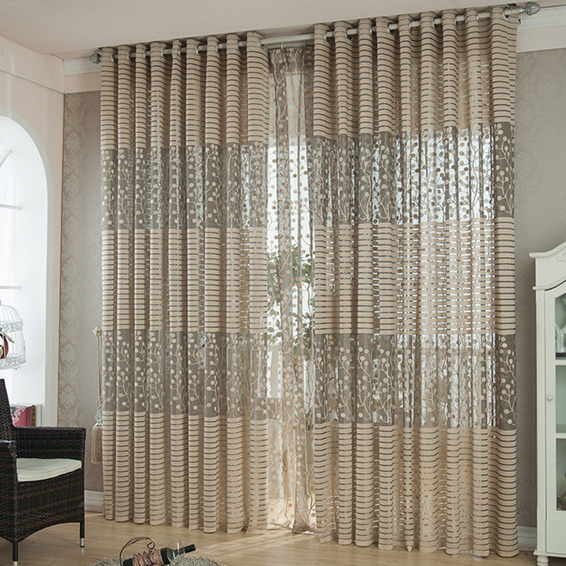 High quality strip modern luxury window curtains for Contemporary drapes window treatments