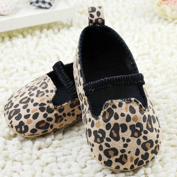 Baby Shoes First Walkers Soft Sole Girls Leopard Shoes Baby Infant Princess Shoes