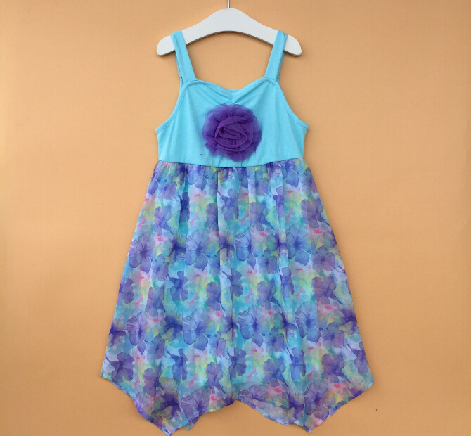New designs Free shipping childrens girls clothing girl grace & roise short sleeves beach dress LACE(China (Mainland))