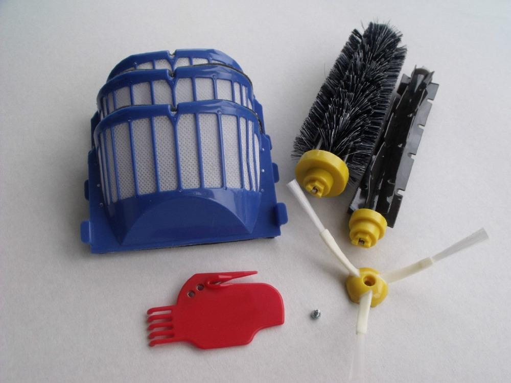 Aero Vac Filter Bristle Brush Flexible Beater Brush Cleaning tool Screw for iRobot Roomba 600 Series (620 630 650 660)(China (Mainland))