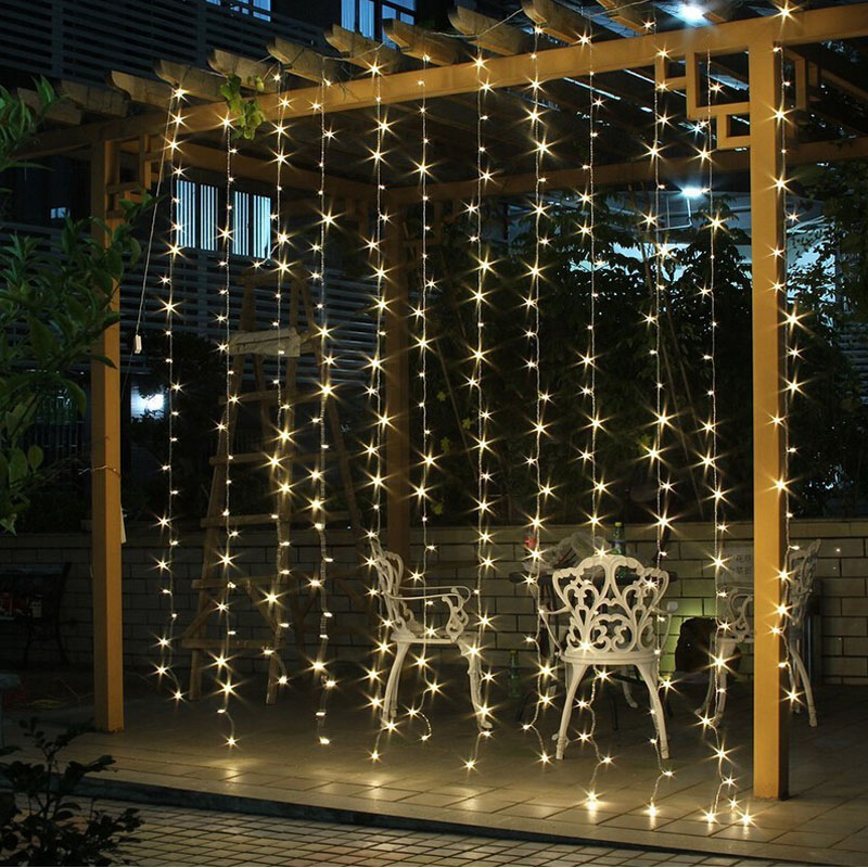 3M x 3M 300 LED Icicle String Lights Christmas xmas Fairy Lights Outdoor Home For Wedding/Party/Curtain/Garden Decoration(China (Mainland))