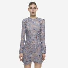 Buy 2017 SP Spring 3D Guipure-lace Dress Women Sexy Perspective Water Soluble Lace Crochet Floral Dress Long Sleeve Party Dress for $45.99 in AliExpress store