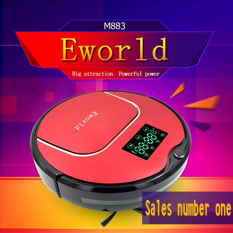 Eworld Robot Vacuum Cleaner for Home M883, MOP, Self Charge Vacuum robot sweeper with Auto recharging,Remote controller(China (Mainland))