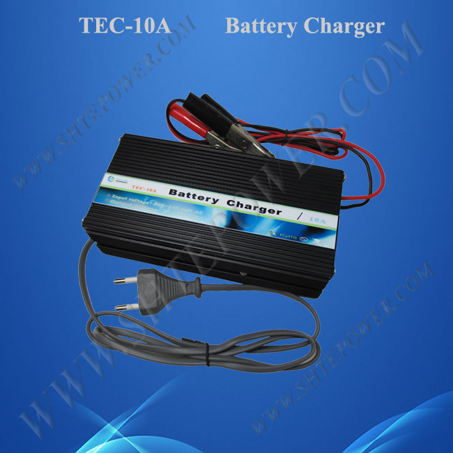 3 stages 12v output car battery charger 10A 12v battery charger 12v for lead acid and gel battery(China (Mainland))