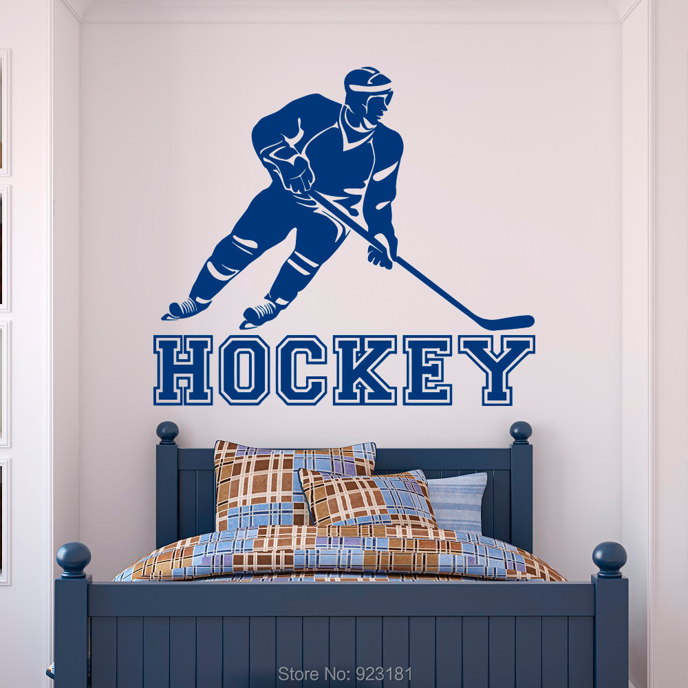 Hockey wall murals wall murals ideas hockey wall decals art color the walls  of your house