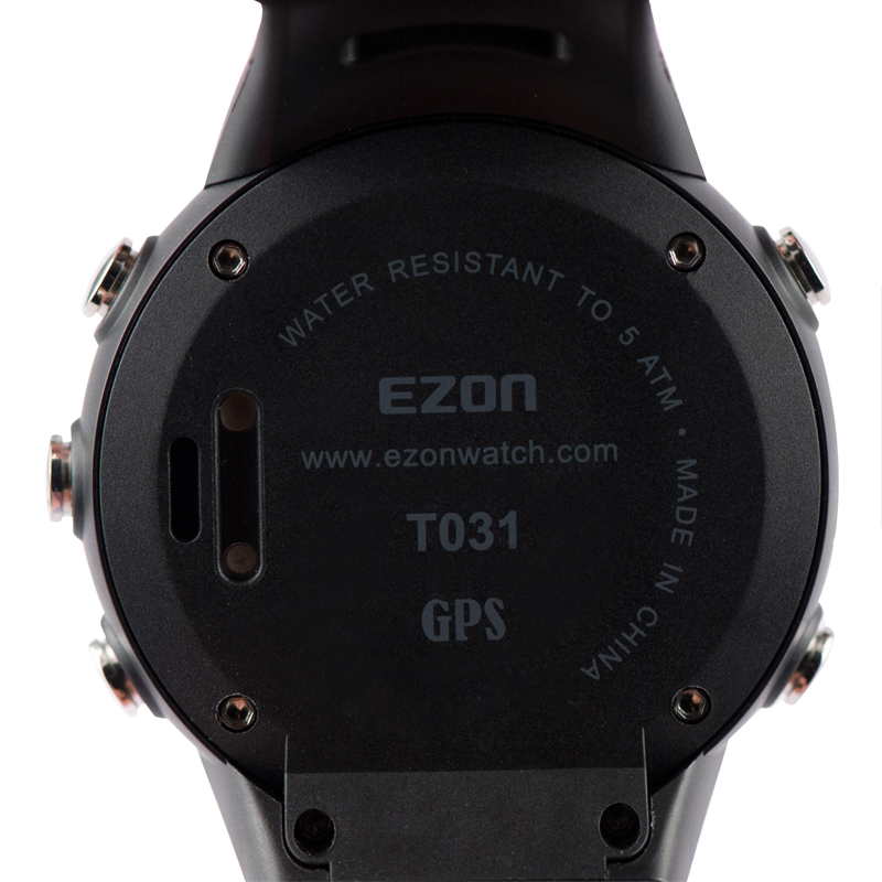 ezon gps running watch calorie counter fitness sport watch men ezon gps running calorie counter professional fitness sport watch 50m waterproof watches for men black red