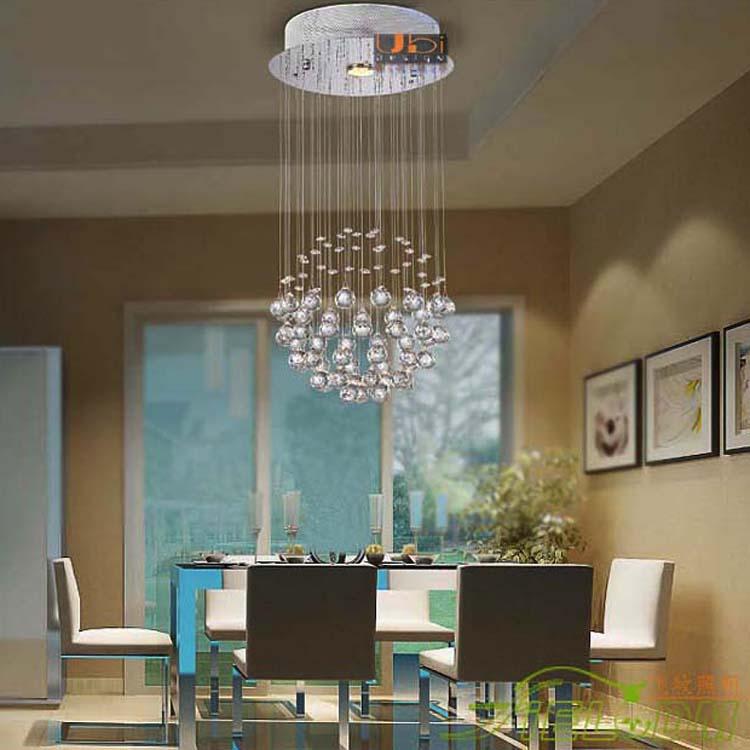 Фотография Free shipping 1 light The entrance aisle living room restaurant lamp modern crystal chandelier crystal ball lights Dia200*H460mm
