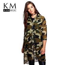 Buy Kissmilk Plus Size Fashion Women Clothing Basic Streetwear Camouflage Dress Three Quarter Sleeve Big Size Dress 3XL 4XL 5XL 6XL for $13.19 in AliExpress store