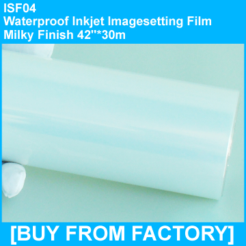 "Inkjet Printing Waterproof Milky Film Excellent Ink Transfer 42""*30m"