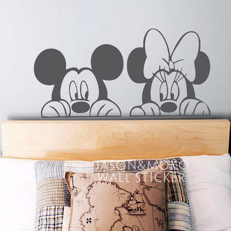 Deco Pour Cuisine En Bois : W006 Cartoon Mickey Minnie Mouse Cute Animal Vinyl Wall stickers Mural