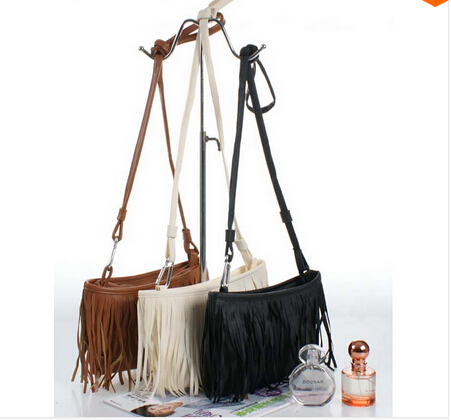 100% top Hot Sale! Womens Tassle Tassel Fringe Faux Suede Shoulder Messenger Crossbody Bag Handbag Purse Black Brown White - Fashion Leather Clothes center store
