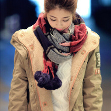 Fall/winter 2015 new plaid scarf thickened warm cashmere scarves wholesale shawls and scarves winter women scarf 150*20cm agw