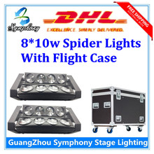 Buy 2pcs/lot RGBW 8x10W Quad 4in1 CREE LED moving head beam Flight Case Spider bar light DJ Lighting Beam Moving Head Light for $420.00 in AliExpress store